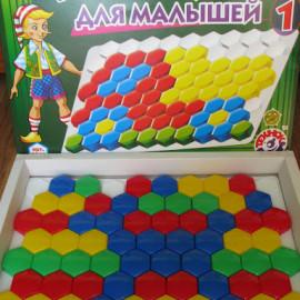 Мозаика для малышей. 80 дет. 4 цв.