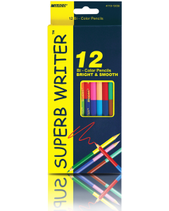 "Карандаши ""Marco"" 4110 2-х цветные, 12 карандашей, 24 цвета"