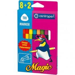 """Фломастеры """"Centropen"""" 2549/10 Magic Trio 8 цветов+ 2 поглотителя чернил"""