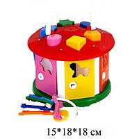 """Куб """"Розумний малюк """" """"Будиночок"""", в кульке 20*12*20 см, ТМ Технок, 2438"""