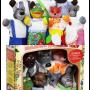 """Кукольный театр """"РУКАВИЧКА"""" (премиум упаковка, 7 персонажей, книжка), в кор. 33*29*11см"""