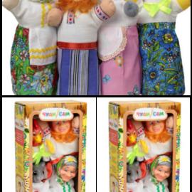 """Кукольный театр """"КУРОЧКА РЯБА"""" (4 персонажа), в кор. 33*17*9см"""