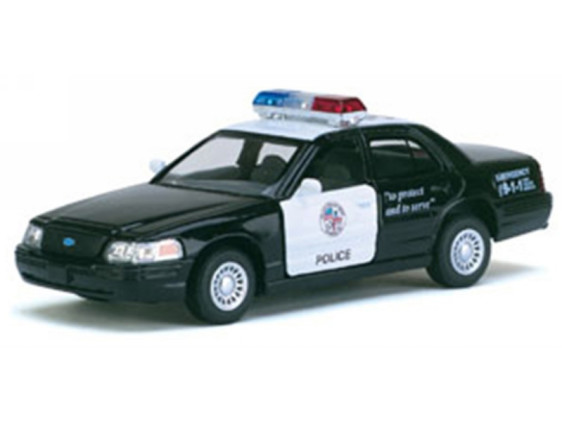 KINSMART Ford Crown Victoria Police Interceptor, метал, инерц. /96-4/
