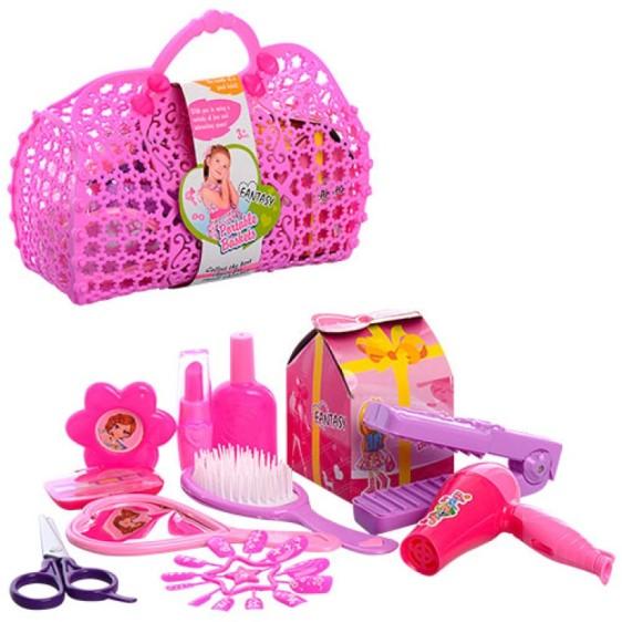 Парикмахерский набор, расческа, ножницы, плойка, зеркало, в сумке 22*17*9см KZ-2541