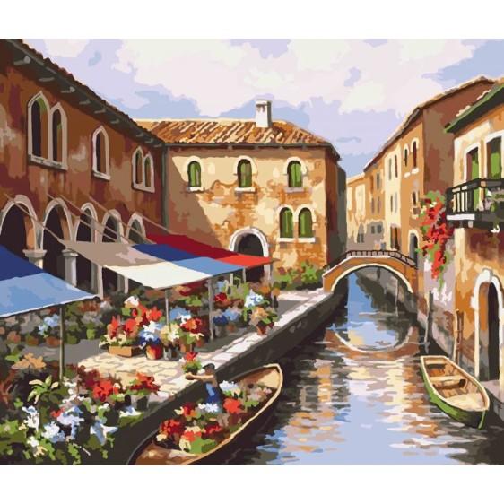 """Картина по номерам """"Цветочный рынок"""", 40*50 см KHO2191"""