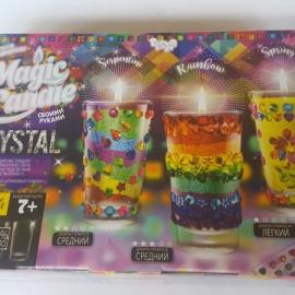 """Набор для творчества """"Magic Candle Crysta"""", парафиновые свечки своими руками, в кор. 24*23*7см (5шт)"""