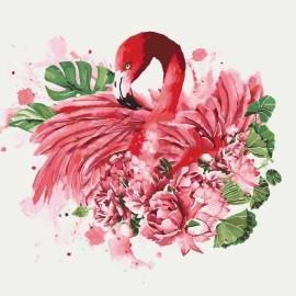 Картина по номерам «Грациозный фламинго», 40*40 см KHO4042