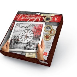 "Часы ""Decoupage Clock"" (29,7*29,7см), в кор. 32*32*4см (10шт)"
