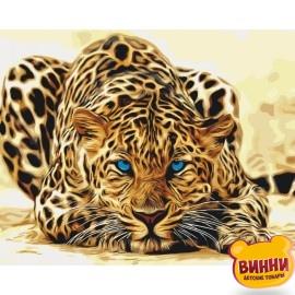 Картина по номерам Дикая кошка, леопард, 40*50 см KHO2450