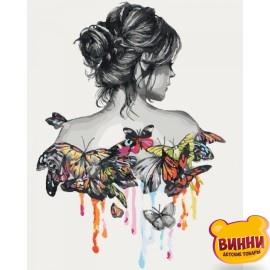 Картина по номерам Нежность бабочки, 40*50 см KHO2688
