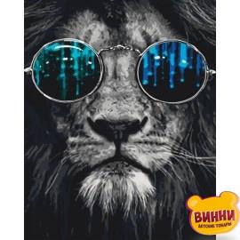 Картина по номерам Постигая гармонию, лев, 40*50 см KHO4062