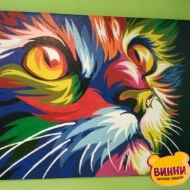 Готовая картина Радужный кот, 30*40 см