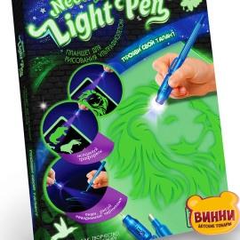 Доска-планшет Neon light pen для рисования в темноте, в кор. 22*30*2 см