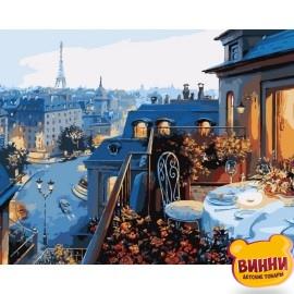 Картина по номерам Вид на Париж, 40*50 см KHO1107