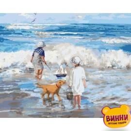 Картина по номерам Играя с волнами, 40*50 см KHO2323