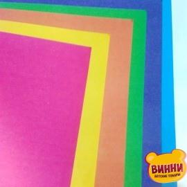 Бумага цветная двухсторонняя (журн.) А4 12 листов, 6 цветов