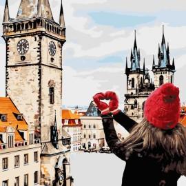Картина по номерам С любовью в сердце, 40*40 см KHO3523