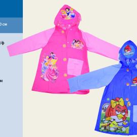 """Дождевик """"Angry Birds, Disney Рrincess"""" 2 вида, 2 размера (M, L), с капюшоном, CEL-30"""