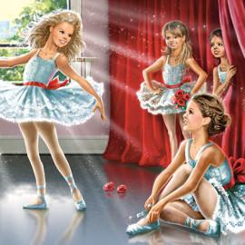 """Кастор пазлы 120 midi """"Школа балета"""" 32*23 В-13036"""