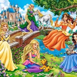 """Кастор пазлы 070 """"Принцессы в саду"""" 40*29см В-070022"""