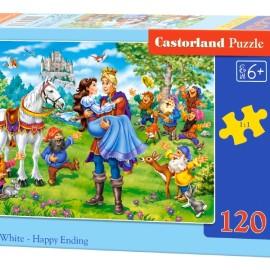 "Castorland Касторленд пазлы 120 midi ""Белоснежка"" 32*23 B-13463"