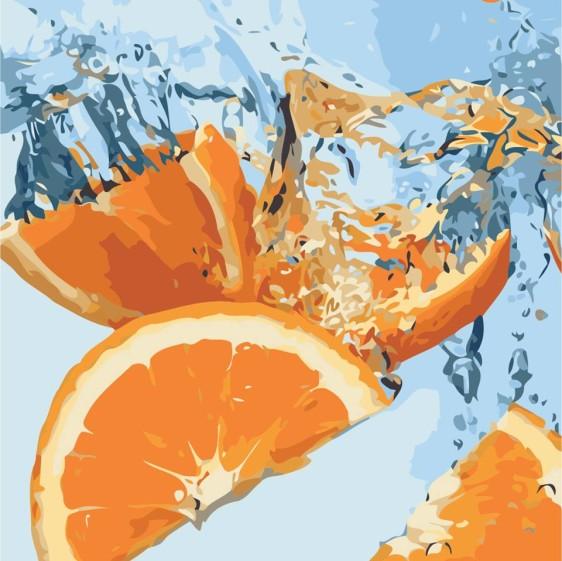 Картина по номерам 40*40 см AS0514 Сочный апельсин