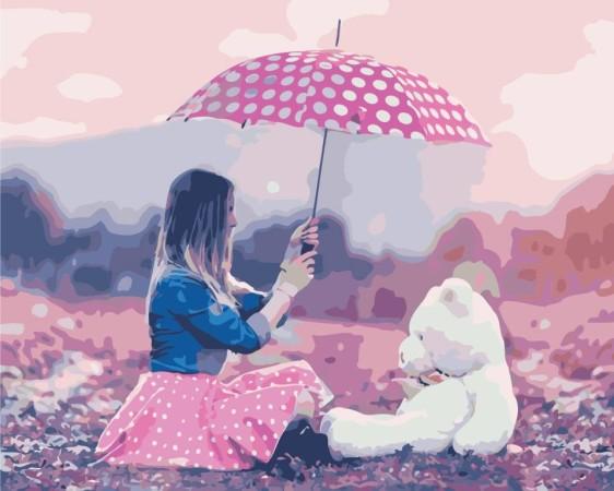 Картина по номерам 40*50 см AS0445 Девичьи мечты