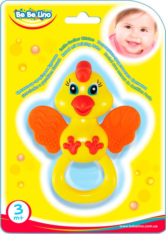 Погремушка-прорезыватель 'Цыпленок' блистер 18,5*21,5*2см