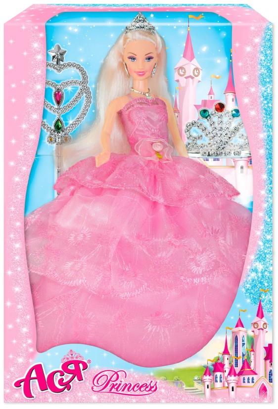 """Набор с куклой Асей """"Стиль принцессы"""" 28см в кор. 23*32,5*8см 35099"""