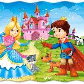 "Кастор пазлы 030  ""Принц и принцесса"" 32*23 /40/"