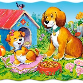 "Кастор пазлы 030  ""Собаки в саду"" 32*23 /40/"