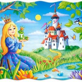 "Кастор пазлы 030  ""Принцесса и лягушка"" 32*23 /40/"