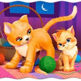 """Кастор пазлы 030  """"Кошка и котёнок"""" 32*23 /40/"""