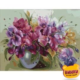 Картина по номерам Букет ярких ирисов, 40*50 см KHO1118