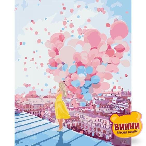 Картина по номерам На рассвете в Париже, 40*50 см, KHО2697