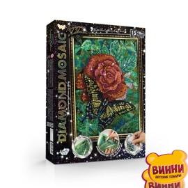 """Набор для творчества """"Алмазная мозаика Diamond mosaic"""", мал, в коробке 35*27*3 см роза"""