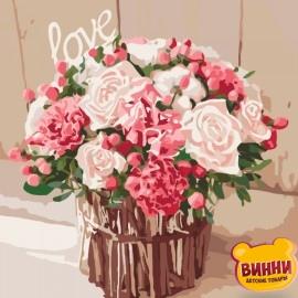 Картина по номерам Розы любви, 40*40 см KHO2074