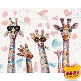 Картина по номерам Веселые жирафы, 40*50 см KHО4115