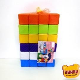 Игрушка кубики 48 шт. 6*6*6 см, в сетке, 02-605