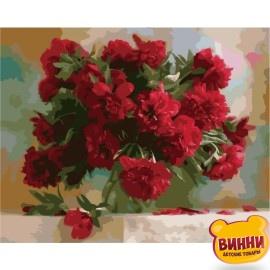 Картина по номерам Красные пионы, 40*50 см, KHО1133