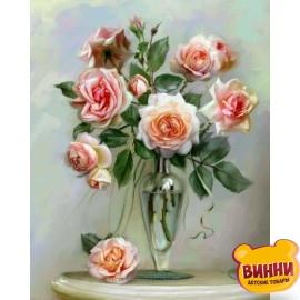 Картина по номерам Трепетные розы, 40*50 см, KHО2034