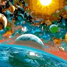 Картина по номерам 40*50 см AS0104 Красота вселенной