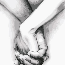 Картина по номерам 40*50 см AS0561 Рука в руке