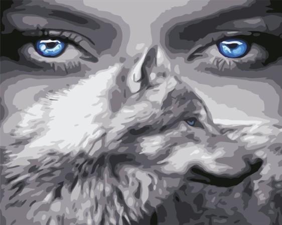 Картина по номерам 40*50 см AS0588 Взгляд волчицы