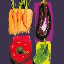 Картина по номерам 40*50 см AS0638 Цветные овощи