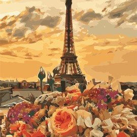 Картина по номерам 40*50 см AS0659 Вечерний Париж