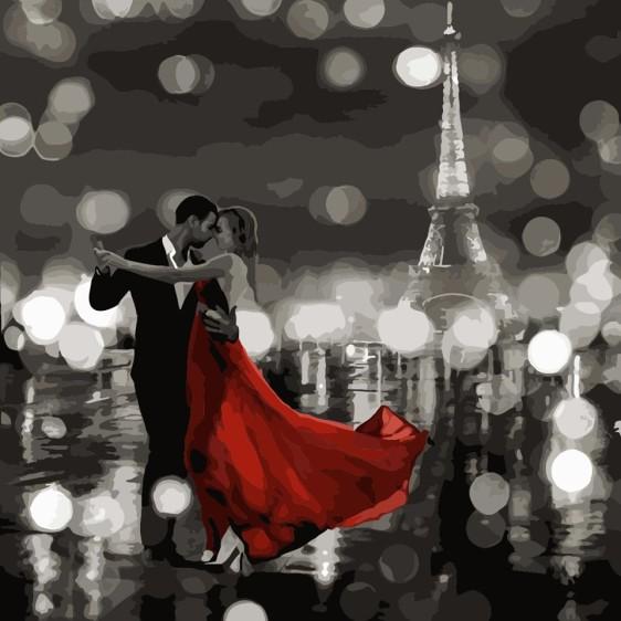 Картина по номерам 40*40 см AS0491 Ночное танго