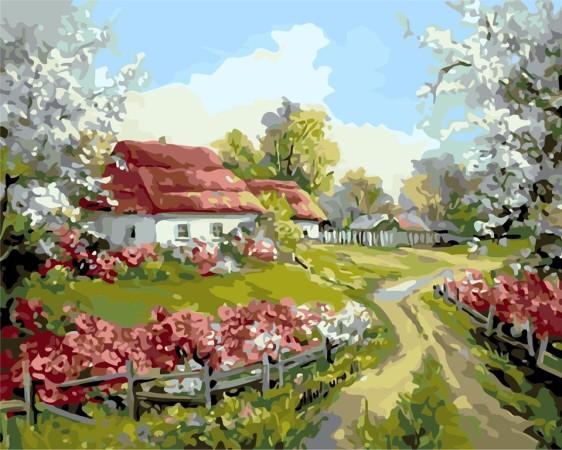 Картина по номерам 40*50 см AS0156 Родное село