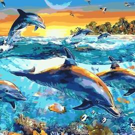 Картина по номерам 40*50 см AS0077 Подводные глубины