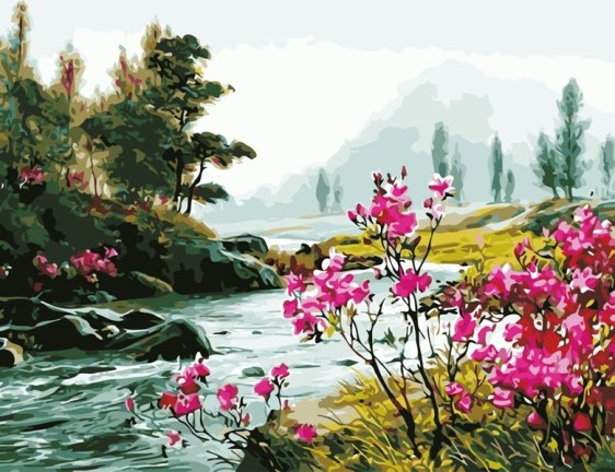Картина по номерам 50*65 см AS0621 Красота природы